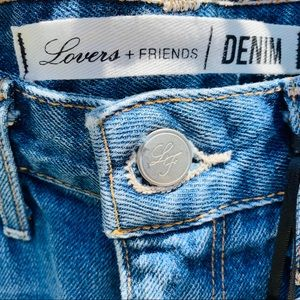 Lovers + Friends Shorts - Lovers + Friends Distressed Denim Shorts
